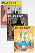 Magazines:Miscellaneous, Playboy V2#4-#7 (HMH Publications, 1955) Condition: Average FN-.... (Total: 4 Comic Books)