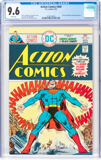 Action Comics #450 (DC, 1975) CGC NM+ 9.6 White pages