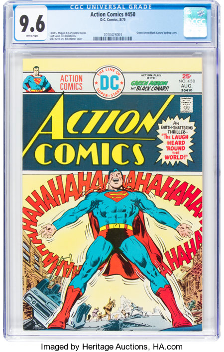 Action Comics #450 (DC, 1975) CGC NM+ 9.6 White pages....
