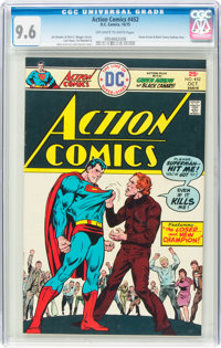 Action Comics #452 (DC, 1975) CGC NM+ 9.6 Off-white to white pages
