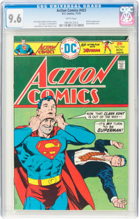 Action Comics #453 (DC, 1975) CGC NM+ 9.6 White pages