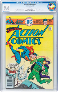 Action Comics #459 (DC, 1976) CGC NM+ 9.6 White pages