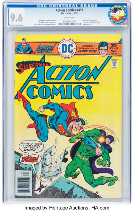Action Comics #459 (DC, 1976) CGC NM+ 9.6 White pages....