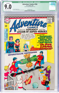 Adventure Comics #356 (DC, 1967) CGC Qualified VF/NM 9.0 Off-white to white pages