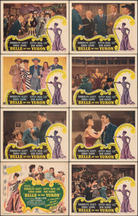 """Belle of the Yukon (RKO, 1944). Overall: Very Fine. Lobby Card Set of 8 (11"""" X 14""""). Musical. ... (Total: 8 It..."""