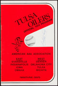 Autographs:Others, 1974 Satchel Page Signed Tulsa Oilers Program. ...