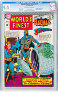 Silver Age (1956-1969):Superhero, World's Finest Comics #165 (DC, 1967) CGC NM 9.4 Off-white to white pages....