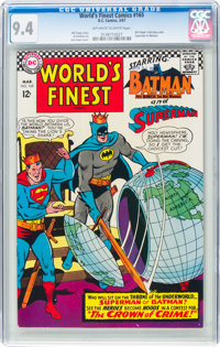 World's Finest Comics #165 (DC, 1967) CGC NM 9.4 Off-white to white pages