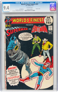 World's Finest Comics #207 (DC, 1971) CGC NM 9.4 Off-white pages