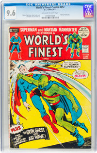 World's Finest Comics #212 (DC, 1972) CGC NM+ 9.6 Off-white to white pages