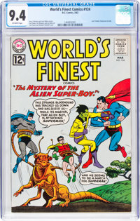World's Finest Comics #124 (DC, 1962) CGC NM 9.4 Off-white pages