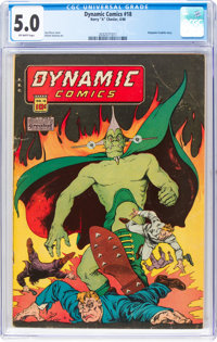 Dynamic Comics #18 (Chesler, 1946) CGC VG/FN 5.0 Off-white pages