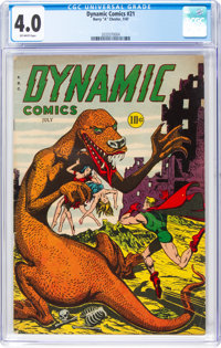 Dynamic Comics #21 (Chesler, 1947) CGC VG 4.0 Off-white pages