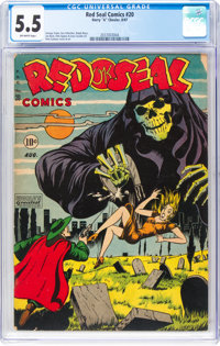 Red Seal Comics #20 (Chesler, 1947) CGC FN- 5.5 Off-white pages