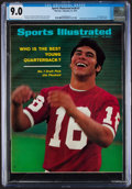 Football Collectibles:Publications, 1971 Sports Illustrated Jim Plunkett Cover - CGC 9.0 Pop 1 With None Higher....