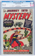 Silver Age (1956-1969):Superhero, Journey Into Mystery #83 (Marvel, 1962) CGC VG 4.0 Off-white to white pages....
