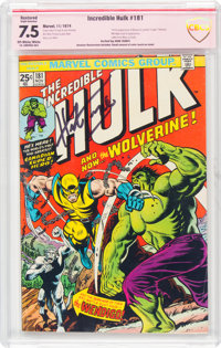The Incredible Hulk #181 Restored Verified Signature - Herb Trimpe (Marvel, 1974) CBCS VF- 7.5 Slight (A) Off-white to w...