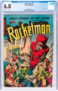 Rocketman #1 (Farrell, 1952) CGC FN 6.0 Light tan to off-white pages