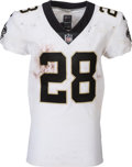 Football Collectibles:Uniforms, 2017 Adrian Peterson Game Worn & Unwashed New Orleans Saints Jersey - Used 9/11 vs. Vikings....
