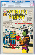 Silver Age (1956-1969):Superhero, World's Finest Comics #122 (DC, 1961) CGC VF 8.0 Off-white to white pages....