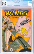 Golden Age (1938-1955):War, Wings Comics #94 (Fiction House, 1948) CGC VG/FN 5.0 Off-white to white pages....