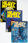 Magazines:Science-Fiction, Heavy Metal Box Lot (HM Communications, 1977-84) Condition: Average FN/VF....