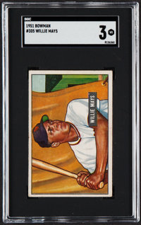 1951 Bowman Willie Mays #305 SGC VG 3