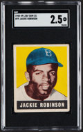 Baseball Cards:Singles (1940-1949), 1948 Leaf Jackie Robinson #79 SGC Good+ 2.5....