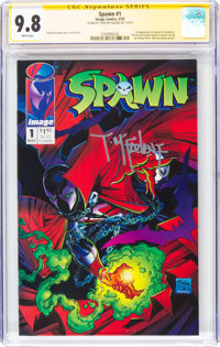 Spawn #1 Signature Series: Todd McFarlane (Image, 1992) CGC NM/MT 9.8 White pages