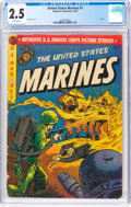 Golden Age (1938-1955):War, United States Marines #7 (Magazine Enterprises, 1952) CGC GD+ 2.5 Brittle pages....