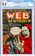 Golden Age (1938-1955):Horror, Web of Mystery #16 (Ace, 1952) CGC VF 8.0 Off-white to white pages....