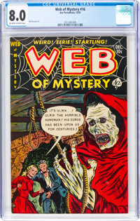Web of Mystery #16 (Ace, 1952) CGC VF 8.0 Off-white to white pages