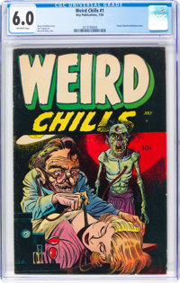 Weird Chills #1 (Key Publications, 1954) CGC FN 6.0 Off-white pages