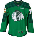 Hockey Collectibles:Others, 2017 Artemi Panarin Game Worn & Signed Chicago Blackhawks Saint Patrick's Warm Up Jersey. ...