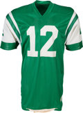 """Football Collectibles:Uniforms, 1976 Joe Namath Game Worn New York Jets Jersey from The Jimmy """"The Greek"""" Snyder Collection...."""