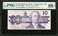 World Currency, Canada Bank of Canada $10 1989 BC-57aA Replacement PMG Superb Gem Unc 68 EPQ.. ...