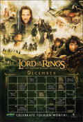 "Movie Posters:Fantasy, The Lord of the Rings Trilogy (New Line/YALSA, 2003). Rolled, Very Fine+. Promotional Calendar Poster (27"" X 40"") SS. Fantas..."