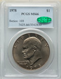 Eisenhower Dollars, 1978 $1 MS66 PCGS. CAC. PCGS Population: (489/7). NGC Census: (245/7). CDN: $75 Whsle. Bid for NGC/PCGS MS66. Mintage 25,70...