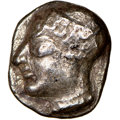 Ancients:Greek, Ancients: IONIA. Phocaea. Ca. late 6th-early 5th centuries BC. AR diobol or hemidrachm (10mm). NGC Choice VF, scratches....