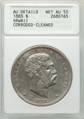 Coins of Hawaii , 1883 $1 Hawaii Dollar -- Cleaned, Corroded -- ANACS. AU Details Net AU50. Mintage 46,348. ...