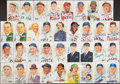 Autographs:Post Cards, Perez-Steele Baseball Postcards, Lot of 35 - 22 Signed!...