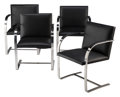 Furniture, Ludwig Mies van der Rohe (German, 1886-1969). Four Brno Chairs, designed 1929, manufactured later . Chrome-plated steel,... (Total: 4 Items)