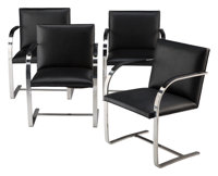 Ludwig Mies van der Rohe (German, 1886-1969) Four Brno Chairs, designed 1929, manufactured later Ch
