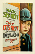 """Movie Posters:Comedy, The Cat's Meow (Pathé, 1924). Very Fine on Linen. One Sheet (27"""" X 41"""").. ..."""