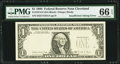 Missing Third Printing Error Fr. 1914-D $1 1988 Federal Reserve Note. PMG Gem Uncirculated 66 EPQ