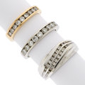 Estate Jewelry:Rings, Diamond, Gold Rings . ... (Total: 3 Items)