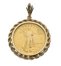 Estate Jewelry:Pendants and Lockets, Gold Coin, Gold Pendant . ...