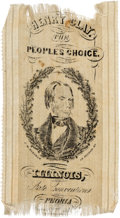 Political:Ribbons & Badges, Henry Clay: One-Day Event Ribbon with Abraham Lincoln Association. ...