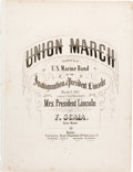 Political:Small Paper (pre-1896), Abraham Lincoln: 1861 Inauguration Sheet Music....