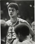Basketball Collectibles:Photos, 1967 Lew Alcindor Original News Photograph by Malcolm Emmons, PSA/DNA Type 1....